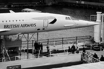 British Airways Concorde Exhibit At The Intrepid Sea Air Space Museum Art Print by Joe Fox