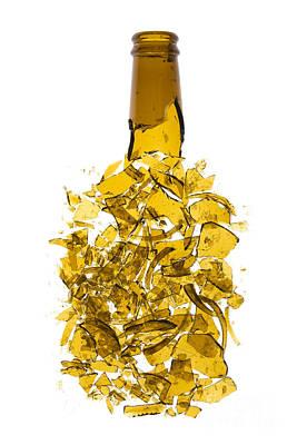 Shattered Photograph -  Broken Beer Bottle by Jose Elias - Sofia Pereira