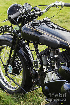 Photograph -  Brough Superior Ss80 Motorcycle by Tim Gainey