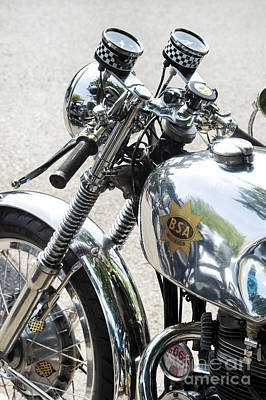 Photograph -  Bsa Gold Star Cafe Racer  by Tim Gainey