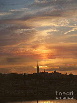 Photograph -  Budapest's Fiery Skies by Brenda Kean
