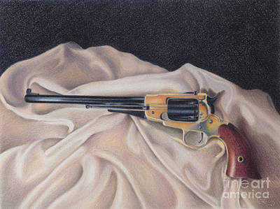 Painting -   Buffalo Blackpowder Revolver  by Elizabeth Dobbs