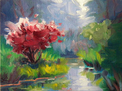 Painting -  Burning Bush by Sharon Casavant