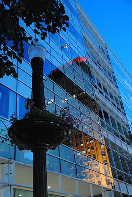 Photograph -  Butz Corporate Building With Ppl Reflection - Allentown Pa by Jacqueline M Lewis
