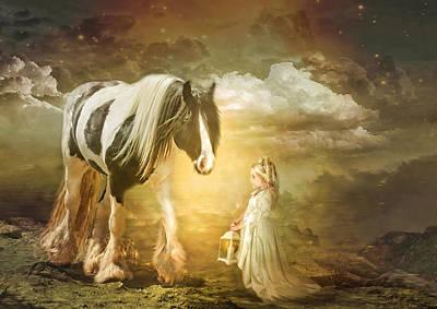 Pony Digital Art -  By Lantern Light by Trudi Simmonds