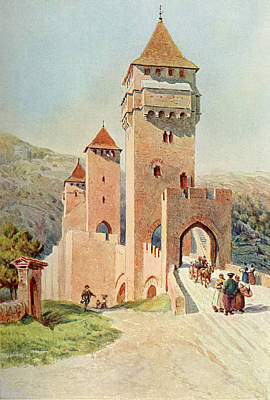 Cahors  Pont Valentre        Date 1904 Art Print by Mary Evans Picture Library