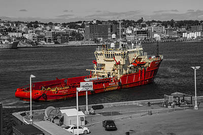 Photograph -  Canadian Rescue Vessel  by Patrick Boening