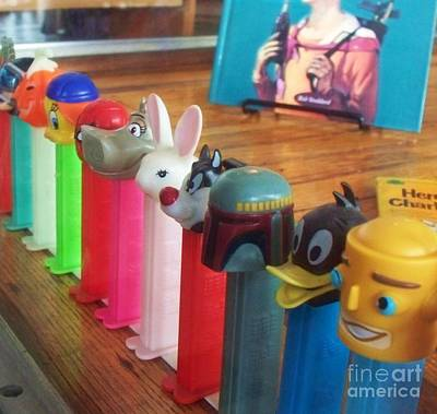Pez Dispenser Photograph -  Candy Dispenser Vintage by Eric  Schiabor