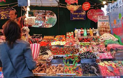 Photograph - Paris Candy Stand by Allen Beatty