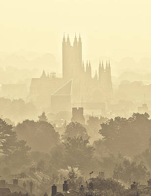 Canterbury Wall Art - Photograph -  Canterbury Cathedral In The Mist by Ian Hufton