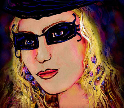 Curly Mixed Media -  Casablanca Girl by Natalie Holland