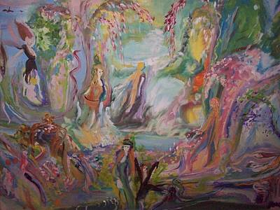 Nurturer Painting -  Cascade Of Care And Life by Judith Desrosiers