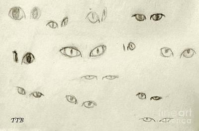 Cat Eyes - 1 Art Print