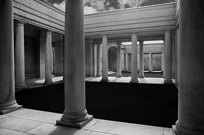 Arras Photograph -  Cemetery Pillars by David Hare