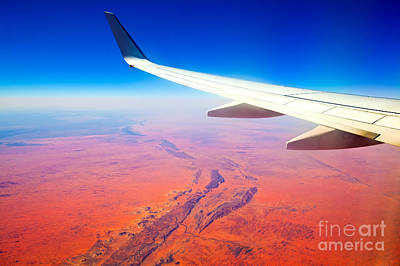 Central Australia From The Air  Art Print by Bill  Robinson