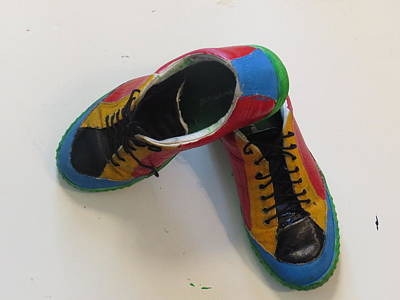 Wearable Art Painting -  Chaussure Art by Ronald Weatherford