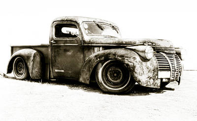 Chevy Pickup Patina  Art Print by motography aka Phil Clark