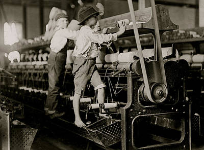 Bobbins Photograph -  Child Laborers by Unknown