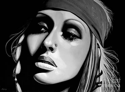 Music Mixed Media -  Christina Aguilera by Meijering Manupix