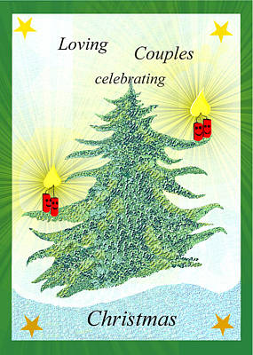 Painting -  973 - Christmas Card     by Irmgard Schoendorf Welch