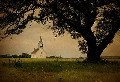 Lutheran Photograph -  Church On The Plain by David and Carol Kelly