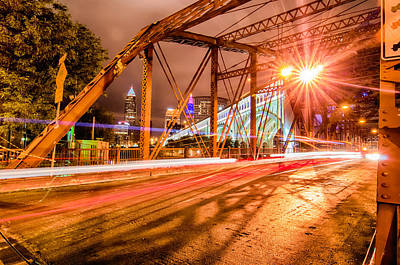 Photograph -  Cleveland Downtown At Night by Alex Grichenko