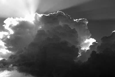 Photograph -  Clouds 1 Bw by Maxwell Amaro