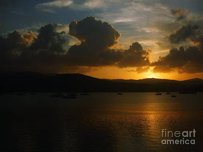 Cloudy Sunset Art Print by Michelle Meenawong