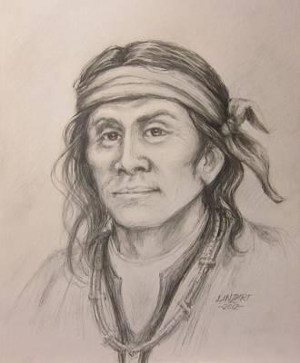 Apache Drawing -  Cochise by Linda McCoy