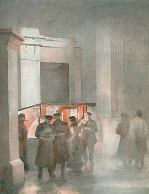 Hyde Park Drawing -  Coffee-stall At Hyde Park Corner by Mary Evans Picture Library