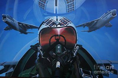 Colonel Dave Dollarhide Original by Richard John Holden RA