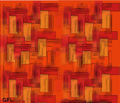 Painting -  Color Of Red V Contemporary Digital Art by G Linsenmayer