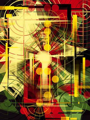 Colorful Construction 37 Art Print