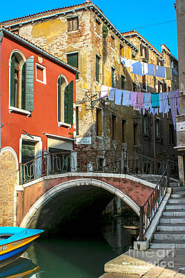 Abstract Airplane Art Rights Managed Images -  Colorful Laundry in Venice Royalty-Free Image by Martha J Kenyon