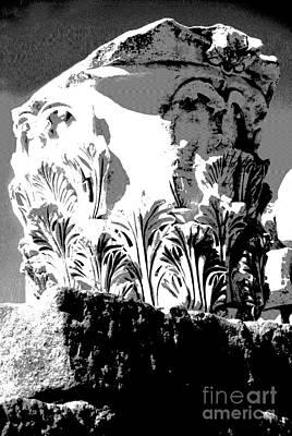 Photograph -  Column Details - Ephesus by Jacqueline M Lewis