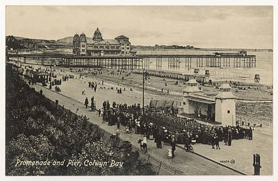Colwyn Bay Photograph -  Colwyn Bay  Promenade And Pier by Mary Evans Picture Library