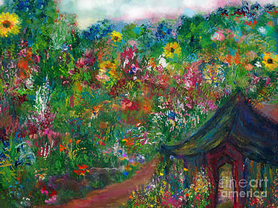 Painting -  Come Into Your Garden by Deborah Montana