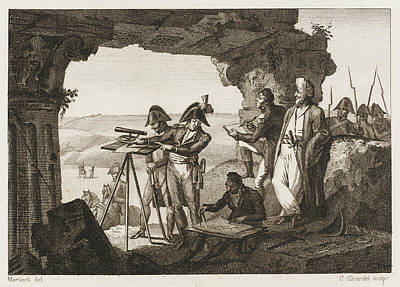 Comte Andreossi Surveys  Antique Sites Art Print by Mary Evans Picture Library