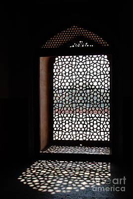 Photograph -  Concrete Lattice - Humayun's Tomb by Jacqueline M Lewis