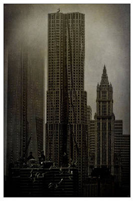 Photograph -  Concrete Steel Glass And Fog by Chris Lord