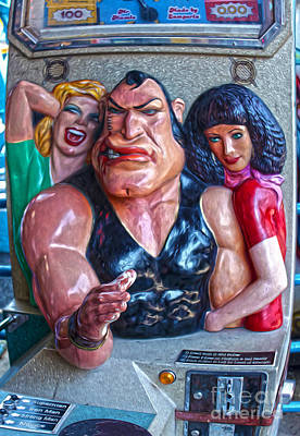 Painting -  Coney Island Arm Wrestler by Gregory Dyer