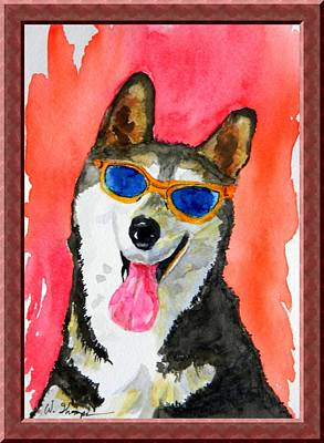 Cool Husky Art Print by Warren Thompson