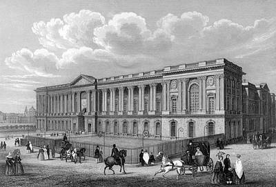 Louvre Drawing -  Cote De La Colonnade  The Seine by Mary Evans Picture Library