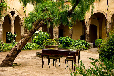 St. Francis Of Assisi Photograph -  Courtyard St. Francis Of Assisi Sorrento Italy by Xavier Cardell