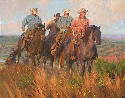 Digital Art -  Cowboys Commute By Bruce Greene by Bruce Greene