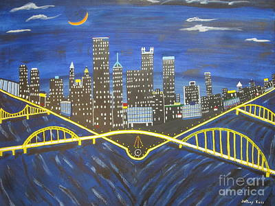 Pittsburgh Painting -  Crescent Over Pittsburgh  by Jeffrey Koss