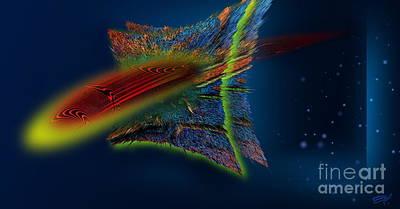 Crossing Univers Art Print by Emil Jianu