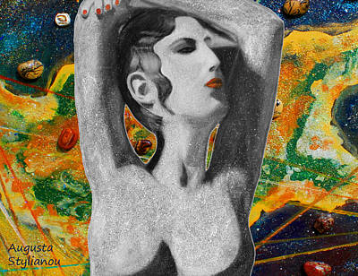 Digital Art -  Cyprus Map And Aphrodite by Augusta Stylianou