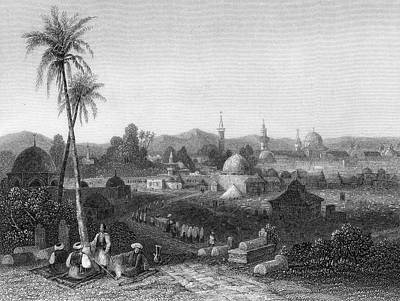 Damascus  General View        Date 1835 Art Print by Mary Evans Picture Library