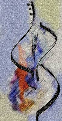 Digital Art -  Dancing Guitar by Mimo Krouzian